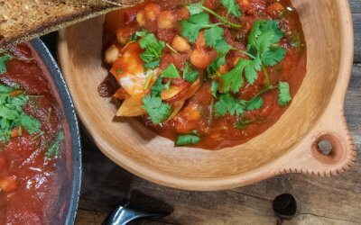 Moroccan Fish with Chickpeas and Cilantro